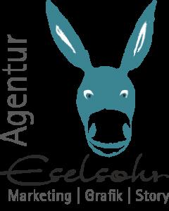 Logo der Agentur Eselsohr im Würfelformat
