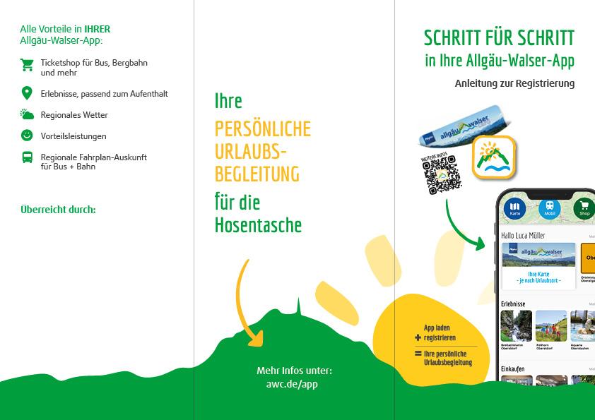 Allgäu Walser App Flyer